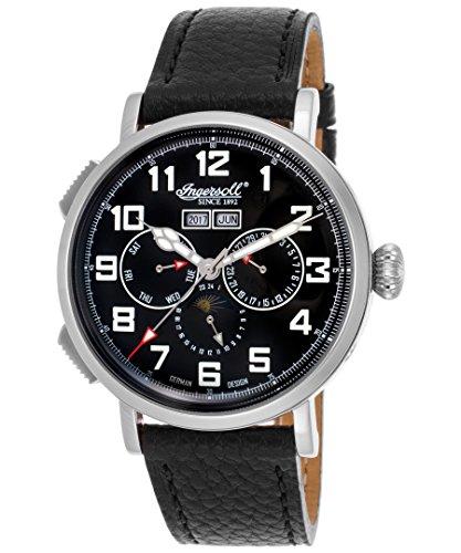 Ingersoll IN1917SBK - Reloj automático, para hombres, con correa de cuero, color negro