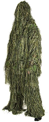 Nitehawk Adults Military 3D Camouflage Sniper Ghillie Suit Includes Rifle Wrap & Carry Bag XL/XXL
