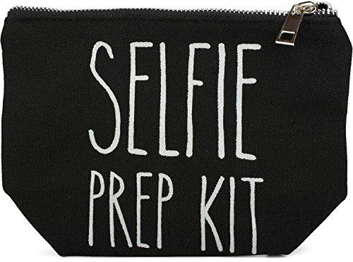 styleBREAKER Neceser de Belleza con Frase Estampada «Selfie Prep Kit», Bolso de cosmética, Bolsa para el Maquillaje, Bolso, señora 02013004, Color:Negro