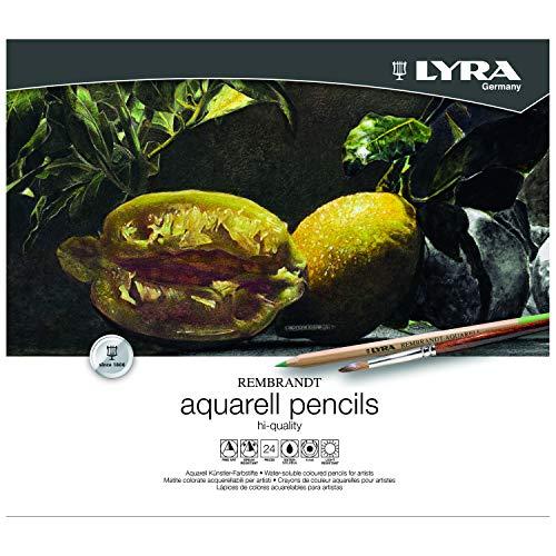 LYRA 2011240 Rembrandt Aquarell - Metalletui mit 24 Aquarellstiften, farbig sortiert