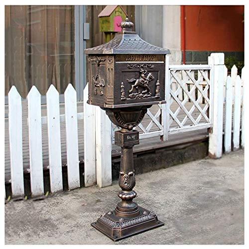 ZWH-Briefkasten Mailbox Zeitschrift Zeitung Mailboxes Cast Aluminum Rust Abschließbare Postbrief Zeitung Box Retro Vertikale Posteingang Tür Briefkästen