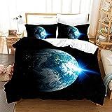 Bedclothes-Blanket Juegos de Fundas para edredón,Caso 3D Universo Starry Ropa de Cama de Tres Piezas-8_173 * 218