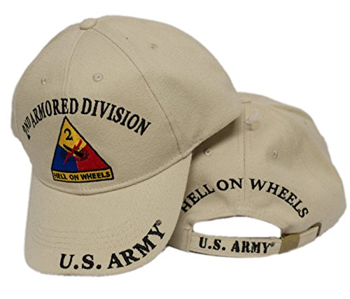 Moon US Army Second 2ND Armored Division AD Hell On wheels Embroidered Hat Veteran Premium Quality Dad Hat For Men Women
