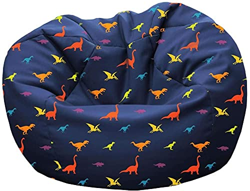 rucomfy Beanbags Kids Dinosaur Bean Bag. Perfect for Bed or Play Room. Machine Washable. 50 x 65cm (Small)