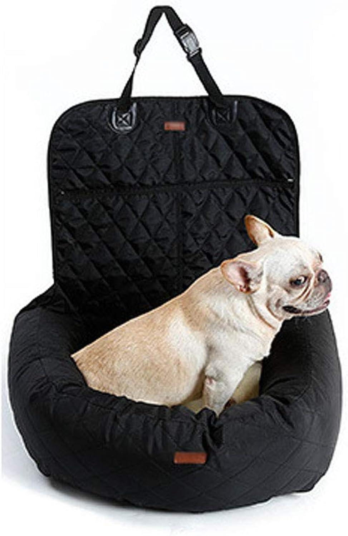 JHJK Pet bed dog car mattress multifunction front and rear car thickening pet mat,Black