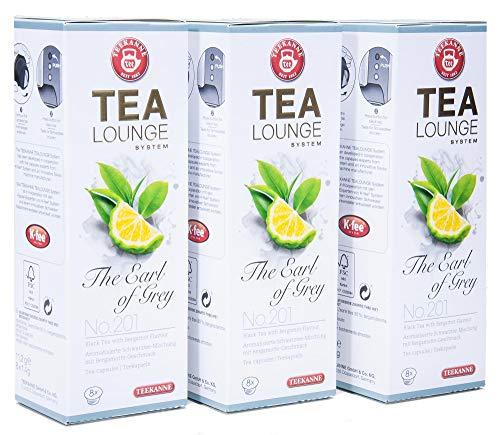 Teekanne Tealounge Kapseln - The Earl of Grey No. 201 Schwarzer Tee (3x8 Kapseln)