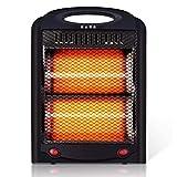 LTLJX Calefactores y Radiadores Halógenos de 2 Barras, Calentador Ajustables Calor e Interruptor de Corte de Seguridad, Potencia de Dos velocidades 300W/600W
