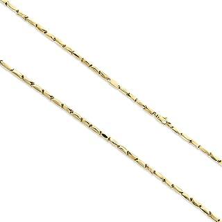 Gioiello Italiano - Catena bambù in Oro Giallo