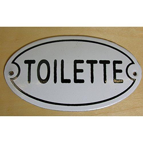 Gr Nostalgie Türschild Eisen Emaille Toilette Gusseisen Wandschild Schild WC Klo