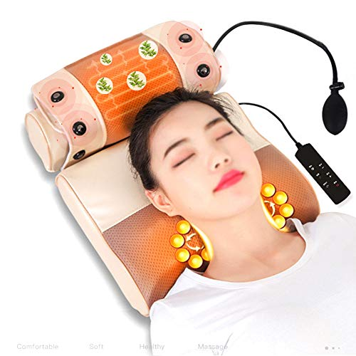HGJDKSJ nekmassageapparaat met warmte, shiatsu-massage-apparaat, multifunctioneel nekmassagekussen, curventractie, magnetische hete verpakking, intelligente krachtmodus
