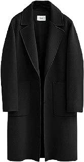 neveraway Womens Turn Down Collar 2 Button Wool Blend Outwear Winter Top Jacket