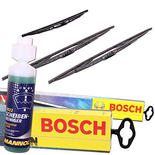 Set Bosch Wischer Wischerblatt Wischerblätter Scheibenwischer Scheibenwischerblätter Aerotwin A581S + Heckwischer Heckwischerblatt Heckscheibenwischer H402