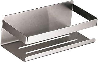 Homyl ステンレス鋼の浴室の棚の装飾的な、銀の金属のさびない、寮のドアの台所の家のための現代様式のホルダーの貯蔵のバスケットの貯蔵の棚
