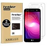 iVoler [2 Pack] Pellicola Vetro Temperato per LG X Power 2, Pellicola Protettiva, Protezione per Schermo