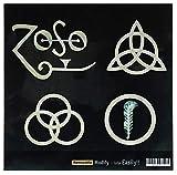 4simboli LED Zeppelin IV'Zoso intarsio decalcomanie per chitarra e basso Body