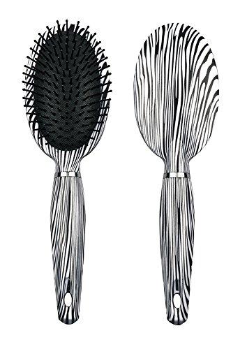 Titania Brosse à cheveux, Poils Zebra Tête Ovale, plastique, 1er Pack (1 x 105 g)