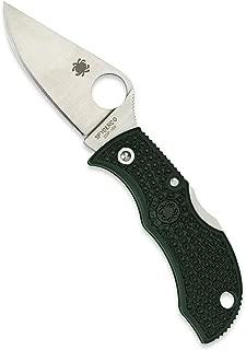 Spyderco Manbug Lightweight Folding Knife - British Racing Green FRN Handle, PlainEdge, Full-Flat Grind, ZDP-189 Steel Blade and Back Lock - MGREP