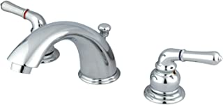 Kingston Brass KB961B Magellan 8-Inch Widespread Lavatory Faucet with Brass Pop-Up 5-3/4 inch in Spout Reach Polished Chrome