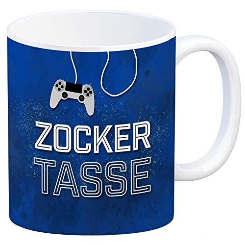 trendaffe - Zocker Kaffeebecher mit Controller Motiv und Spruch: Zocker Tasse Nerd Spiel