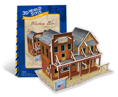 3D three-dimensional puzzle 3D World Style Series western bar W3122h