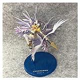 VBCGGGG Digimon Aventura Figura AngeWomon Vehículo Movido Movible Anime Regalo Decoraciones de Juguete de Digimon Series Doll Adornos Action Figures
