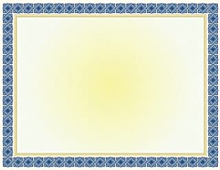Geographics Kensington Blue Gold Foil Certificates,8.5 x 11