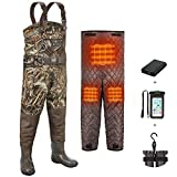 TIDEWE Breathable Hunting Waders Heated with Removable Insulation Liner & Battery Pack