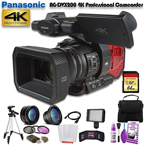 Great Features Of Panasonic AG-DVX200 4K Professional Camcorder (AG-DVX200PJ8) W/ 64GB Memory Card, ...