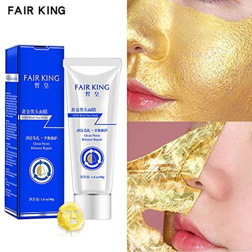 Yiwa Tratamiento de la máscara de espinillas doradas Peel Off Removedor de espinillas purificante Máscara facial Máscara de limpieza profunda para el acné