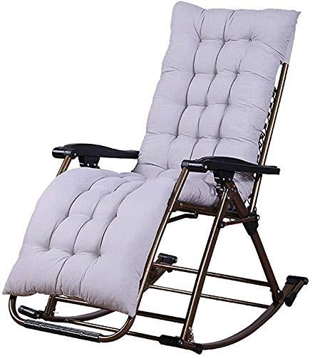 DJDL Silla de salón Silla Casual Silla Mecedora para sillones para Interiores o Exteriores,Grey