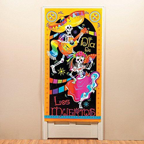 Day of the Dead Dia De Los Muertos Door Cover - Halloween Decorations