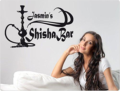Wandtattoo Spruch Shisha Bar Wunschtext Wohnzimmer Wandaufkleber Wandsticker