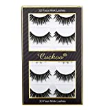 Cuckoo False Eyelashes 3D False Lashes Faux Mink Lashes 5 Pairs Luxurious Volume Fluffy Natural (Cuckoo - Angela)