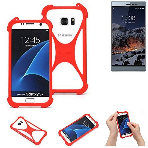 K-S-Trade® Handyhülle Für Switel ESmart M3 Schutzhülle Bumper Silikon Schutz Hülle Cover Case Silikoncase Silikonbumper TPU Softcase Smartphone, Rot (1x)