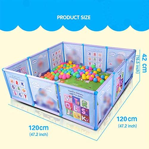 Cartoon Kinder Kinder Kunststoff Spielzaun Baby Sicherheitszaun Pool Baby Spiel Kleinkind Krabbeln Crawl Sicherheit/Pool (Color : Blue)