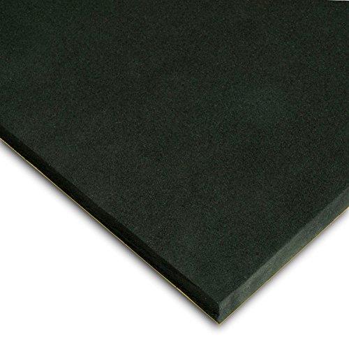 Caucho Esponjoso Plancha Adhesivo Medidas 50cm x 100cm Grueso 5mm Color negro
