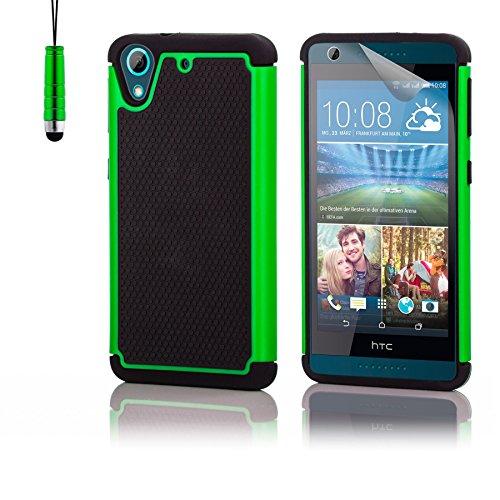 32nd Shockproof Series - Schutz Stoßdämpfung hülle vor Stürzen & Stößen für HTC Desire 626, Case Cover mit Stoßdämpfenden Kern - Grün