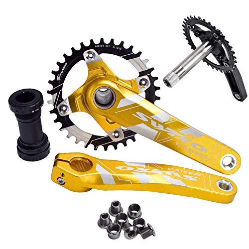 1 Juego De Manivelas 170Mm 32T 34T 36 38T MTB Bike Chainwheel...