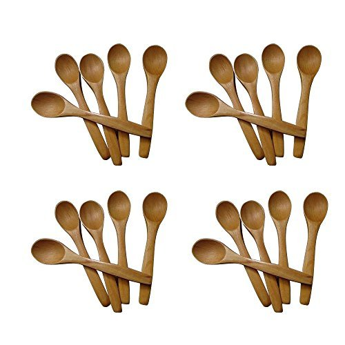 20 Lots Wooden Honey Baby Spoon Feeding Wholesale Tea Coffee Arabic Party by siamparagon