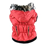 Brightup Haustier Hund Winter warme Kleidung Reißverschluss-Mantel-Jacke Bekleidung Zubehör
