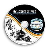 Halloween Clipart-Vector Clip Art-Vinyl Cutter Plotter Images-T-Shirt Graphics CD