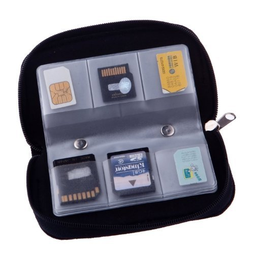 22 Slots Case Pouch Holder for Memory Card Sd Card.Memory Card Carrying Case Memory Card Holder (1 Pack)