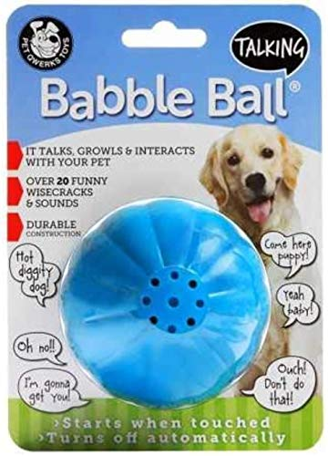 Pet Qwerks Talking Babble Ball Interactive Dog Toy for Large Dogs