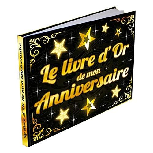 SLA Livre d'or Anniversaire doré et Noir - Coloré - Taille Unique