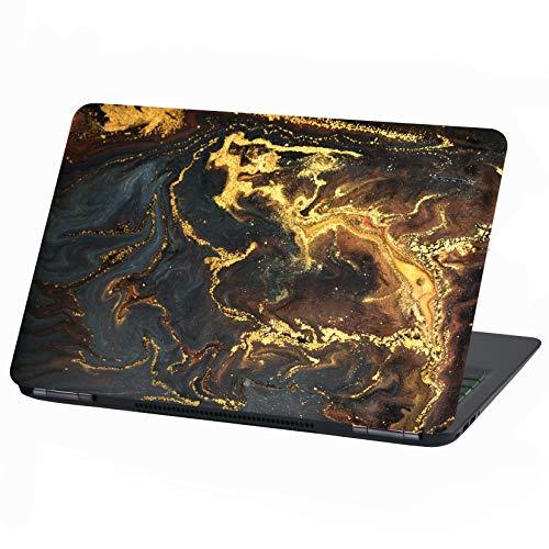 Laptop Folie Cover Abstrakt Klebefolie Notebook Aufkleber Schutzhülle selbstklebend Vinyl Skin Sticker (15 Zoll, LP33 Goldpuder)