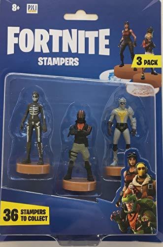 Fortnice FRT02 - Juego de 3 sellos de personajes (modelos aleatorios), multicolor: Amazon.es: Juguetes y juegos