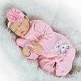 Scnbom 22pulgadas 55cm muñecas Reborn niñas Silicona Bebes Reales Baby Dolls Girls Realista Toddler Recien Nacidos Originales Ojos Cerrados Nino
