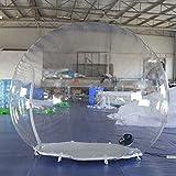 SAYOK 2m inflable iglú burbuja tienda transparente domo con ventilador de aire inflable tienda transparente para escaparate de producto publicidad evento exposición