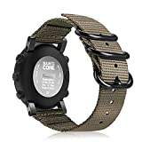 Fintie Watch Band Compatible with Suunto Core, Premium Woven Nylon Replacement Sport Strap with Metal Buckle Compatible with Suunto Core Smart Watch, Desert Tan
