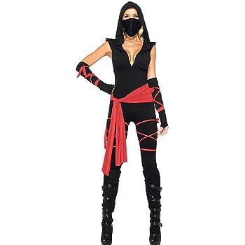 SHANGLY Halloween Ninja Jumpsuit Cosplay Asesino Disfraz Fiesta ...